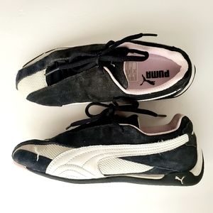 Puma Kart Cat Black/White Suede, Leather Shoes